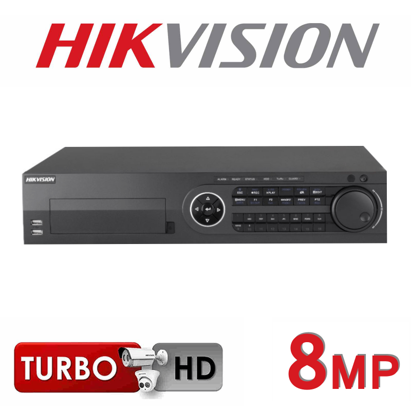 16CH HIKVISION TURBO HD DVR HDMI 8MP 8 SATA INTERFACE DS-8116HTHI-K8