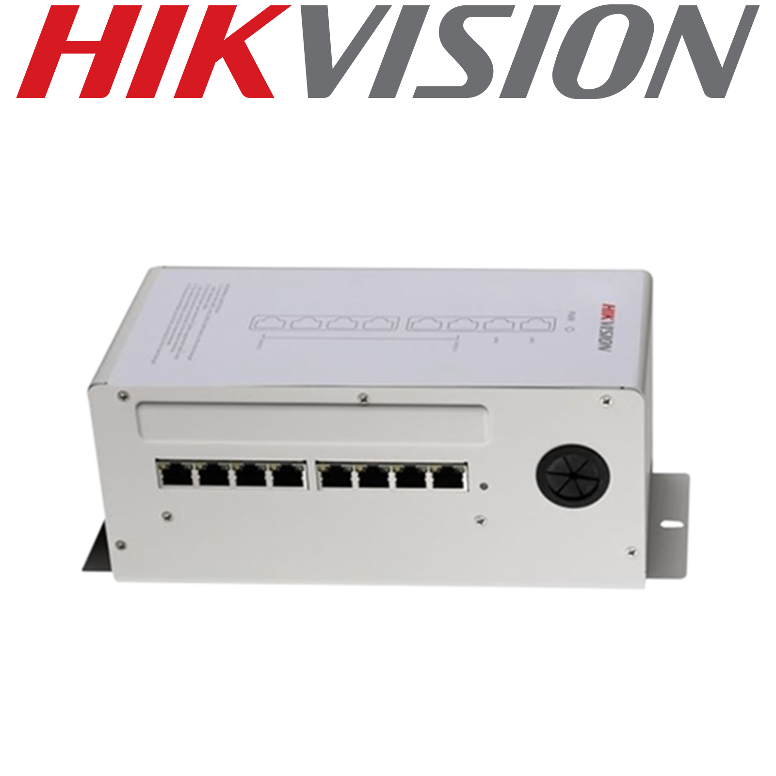 HIKVISION 6 POE PORT 8 RJ45 VIDEO AUDIO DESKTOP POWER DISTRIBUTOR DS-KAD606 GRADED ITEM