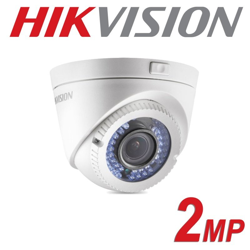 2MP HIKVISION DOME 2.8-12MM VARIFOCAL ZOOM EXIR POC DS-2CE56D0T-VFIR3E