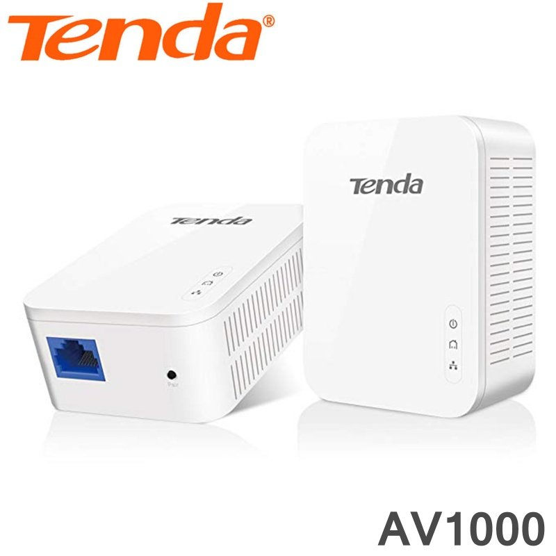 Tenda Powerline Adapter Kit AV1000 Wireless Twin Pack PH3