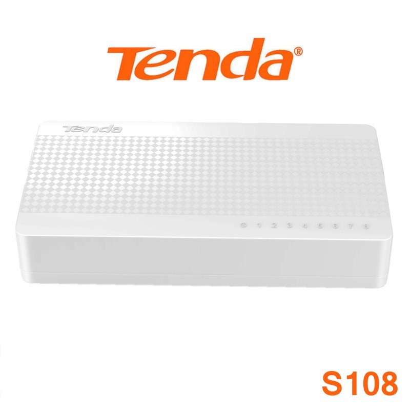 TENDA S108 8 PORT SWITCH - NONE POE - 10/100Mbps