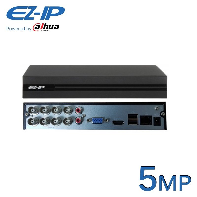 8CH EZ-IP 5MP XVR DVR POWERED BY DAHUA