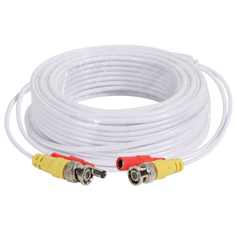 25 METER PRE MADE CABLE CCTV SHOTGUN WHITE COLOUR FOR HD CAMERAS