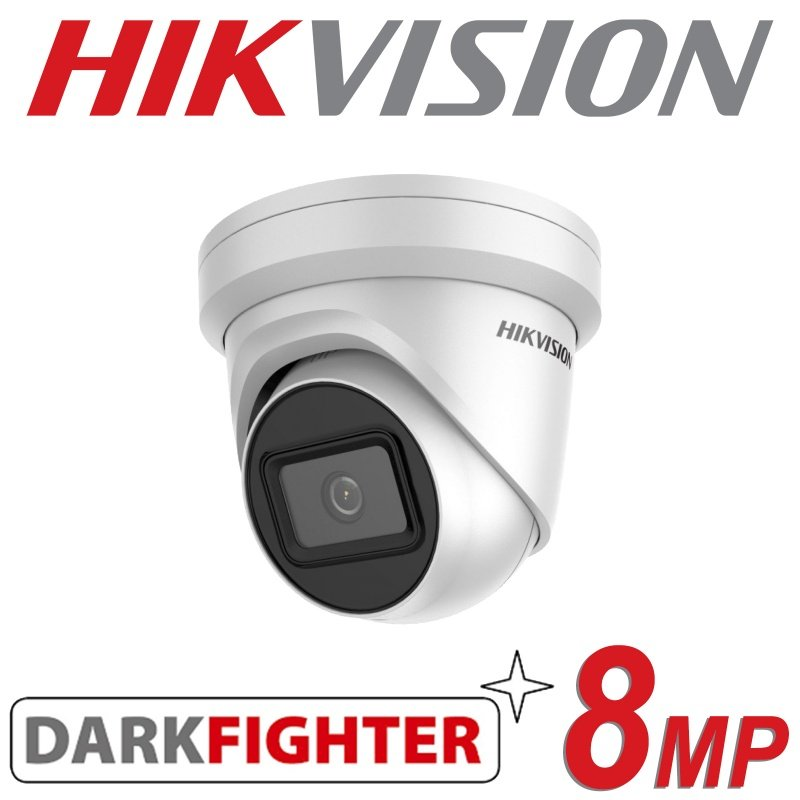 HIKVISION 8MP IP POE DOME TURRET DARKFIGHTER DS-2CD2385G1-I 2.8MM