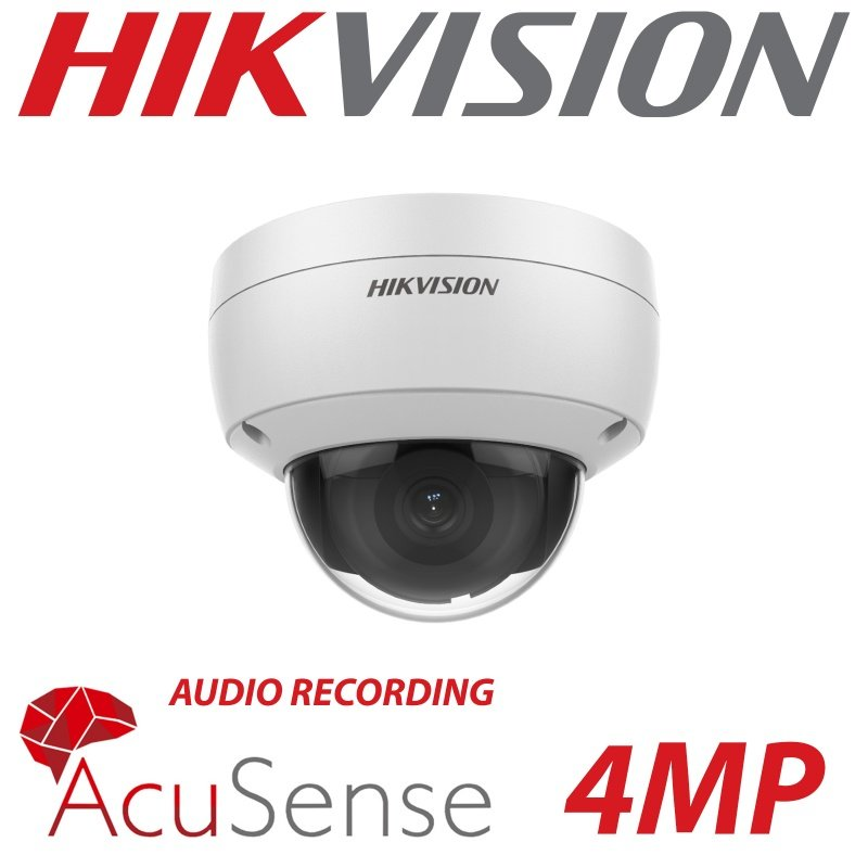 4MP HIKVISION IP VANDAL DOME ACUSENSE DS-2CD2146G2-I(SU) 2.8MM