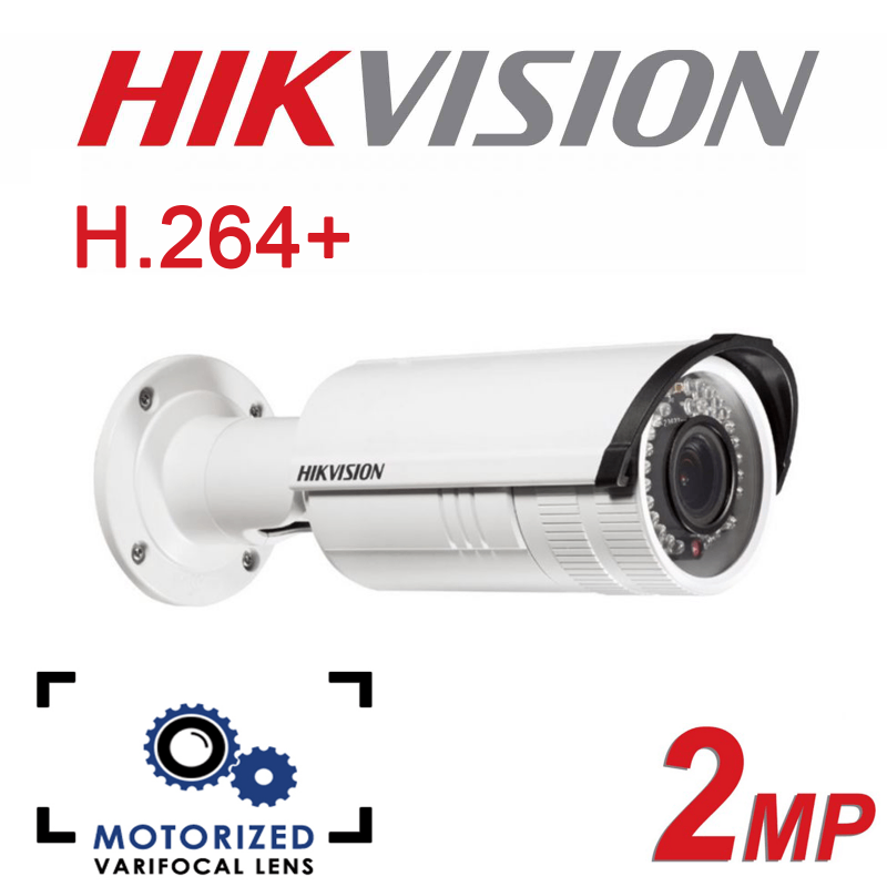 2MP HIKVISION VARIFOCAL LENS 30M IR BULLET IP POE CAMERA -DS-2CD2622FWD-I-2.8-12MM